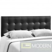 Emily King Vinyl Headboard Black
