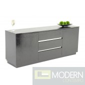 Modern Black Crocodile Lacquer Buffet - AC636-180