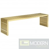 Agosto large Stainless Steel Bench GOLD