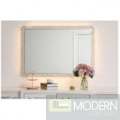 "Helios Crystal LED Mirror 24"" x 36"""