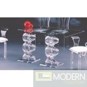 Zinotti Spiral Acrylic Dining Table