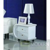 Modrest N002 - Modern White Leather Nightstand