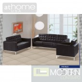 Naomi - Modern Full Leather Sofa Set