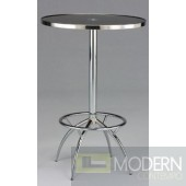 Navara Black Glass Bar Table
