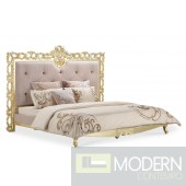 Cinzia Baroque Gold Platform bed