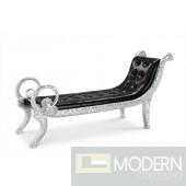 Elda Baroque Silver Croc lounge Bench