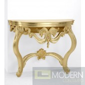 Erminia French Carved Gold Console Table