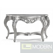 Ernesta French Carved Silver Console Table