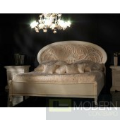 Novita Conformi Oval Headboard Bed in White