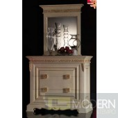 Novita White Dresser Chest with Mirror