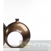 Robusto Open Ring Medium Vase - BRONZE