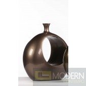 Robusto Open Ring Large Vase - BRONZE