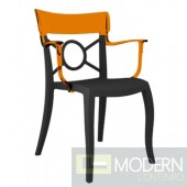 Trans. orange back, anthracite seat