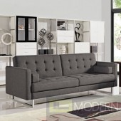 Bauxite Modern Grey Fabric Sofabed