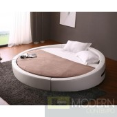 Modrest Opus - Modern Round Leather Bed