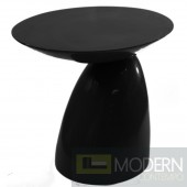 Oval End Side Table, Black