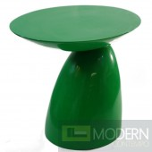 Oval End Side Table, Green