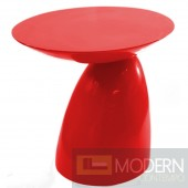 Oval End Side Table, Red