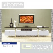 Peyton - Modern White Entertainment Center