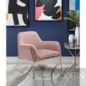 Zuo Modern Nadir Pink Velvet Arm Chair by LOCAL DMV DEALS