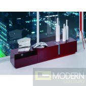 Modrest Pisa - Modern Red TV Stand