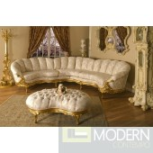 Luxury High end Classic Victorian Sectional Living room Traditional Set ZP645