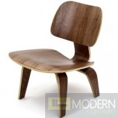 Plywood Lounge Chair, Walnut