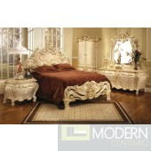 Traditional Formal High End Provincial Style Antique Bed Set ZP3315