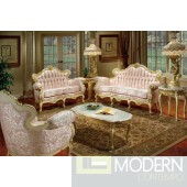 3PC High end Classic Provincial Victorian Sofa Loveseat Chair Living room ZP627
