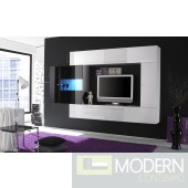 Modern Italian TV Wall Entertainment Unit MCPRM- Black and White