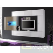 Modern Italian TV Wall Entertainment Unit MCPRM- Sand and White