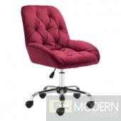 Zuo Modern Loft Red Tufted Adjustable Swivel Office Chair  LOCAL DMV DEALS
