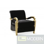 Coco Noir Velvet Baroque Gold arm Chair