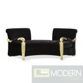 Coco Noir Velvet Baroque Gold Sofa
