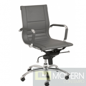 OWEN LOW BACK OFFICE CHAIR GREY