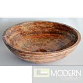 Red Travertine Vessel