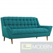 Response Fabric Sofa Teal fabric upholstered
