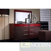 Modrest Rimini Contemporary Wenge Dresser