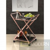 Vesuvius Serving Cart, Rose Gold