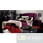 A&X Royal - Purple Fabric Bed