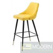 Piccolo Counter Chair Yellow Velvet