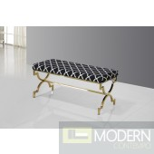 Savafieh Black and Gold Stainless Steel Bench