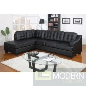 Modern Leather Sectional Sofa Living Room Couch Set TBQS7088