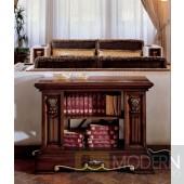 San Marco Dark Walnut Console Table/Bookcase