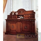 San Marco Dark Walnut Triple Decker Display Buffet