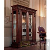 San Marco Dark Walnut Two Door Dining Display Cabinet