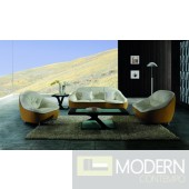 Modern Two Tone Leather Sofa Set -9007