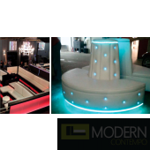 CUSTOM LED LIT CLEAR FORM FURNITURE