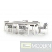 Renava Shape Outdoor White Dining Set