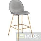 Siena Bar Chair (Set of 2) Gray & Gold by  ZUO LOCAL DMV DEALS